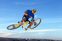 Will Longden , Team MBUK <br /> Fuerteventura 1997<br /> pic copyright Steve Behr / Stockfile