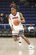 Washington, DC - December 22, 2018: Howard Bison guard Raymond Bethea Jr. (4) dribbles the ball during the DC Hoops Fest between Hampton and Howard at  Entertainment and Sports Arena in Washington, DC.   (Photo by Elliott Brown/Media Images International)