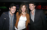 Wesley Taylor, Alice Ripley and Michael Urie attend the opening night performance reception for the Keen Company production of Marry Me A Little at the Clurman Theatre in New York City on10/2/2012.