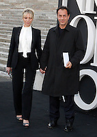 Il regista Matteo Garrone ritratto con la compagna Nunzia Destefano in occasione dell'One Night Only a Roma, 5 giugno 2013.<br /> Italian director Matteo Garrone portrayed with his companion Nunzia Destefano in occasion of the One Night Only fashion event in Rome, 5 June 2013.<br /> UPDATE IMAGES PRESS/Riccardo De Luca