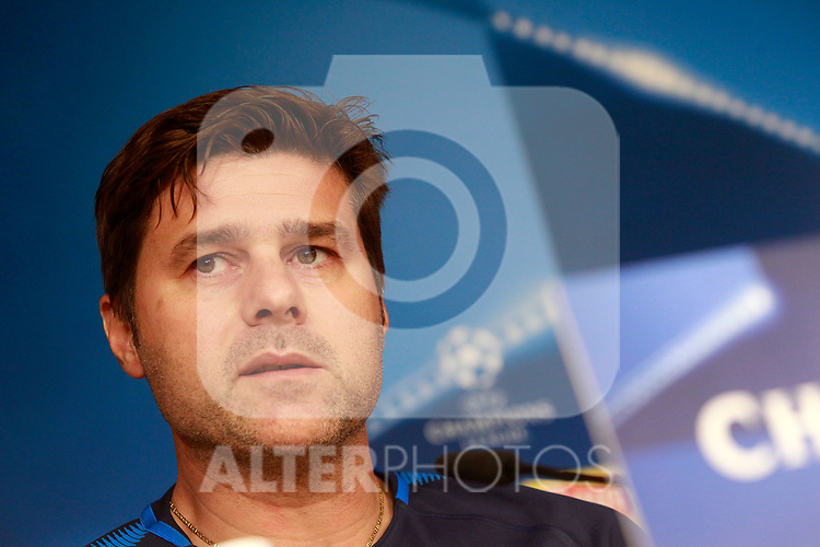 Tottenham Hotspur FC's coach Mauricio Pochettino in press conference before training session. October 16,2017.(ALTERPHOTOS/Acero)
