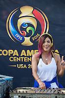 Photo before the match Mexico vs Jamaica Corresponding to  Group -C- of the America Cup Centenary 2016 at Rose Bowl Stadium.<br /> <br /> Foto previo al partido Mexico vs Jamaica, Correspondiente al Grupo -C- de la Copa America Centenario 2016 en el Estadio Rose Bowl, en la foto: Sponsors<br /> <br /> <br /> 09/06/2016/MEXSPORT/Jorge Martinez.