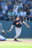 Jeff Hendrix (40) of the Oregon State Beavers bats during a game against the UCLA Bruins at Jackie Robinson Stadium on April 4, 2015 in Los Angeles, California. UCLA defeated Oregon State, 10-5. (Larry Goren/Four Seam Images)
