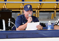 Florida International University announcer Jay Rokeach during the game against Bowling Green State University, which won the game 61-53 on December 22, 2011 at Miami, Florida. .