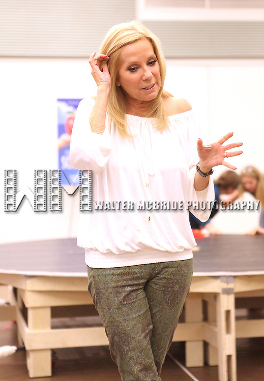 Playwright/ Lyricist Kathie Lee Gifford performing at the rehearsal presentation for 'Scandalous The Musical' at the New 42nd Street Studios on Monday, Sept. 24, 2012 in New York.