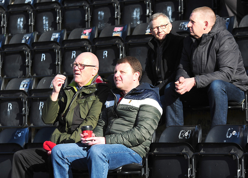 Lincoln City fans enjoy the pre-match atmosphere<br /> <br /> Photographer Andrew Vaughan/CameraSport<br /> <br /> The EFL Sky Bet League Two - Lincoln City v Stevenage - Saturday 16th February 2019 - Sincil Bank - Lincoln<br /> <br /> World Copyright © 2019 CameraSport. All rights reserved. 43 Linden Ave. Countesthorpe. Leicester. England. LE8 5PG - Tel: +44 (0) 116 277 4147 - admin@camerasport.com - www.camerasport.com