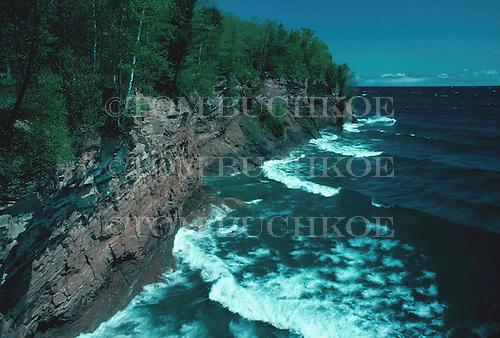 Presque Isle Park, Marquette, Michigan, Lake Superior.