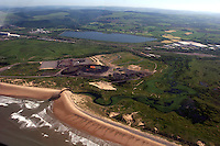 Aerial view of Kenfig Nature Reserve