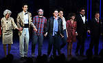 """Julie Halston, John Behlmann, Andy Grotelueschen, Santino Fontana, Lilli Cooper, Sarah Stiles, Reg Rogers, Michael McGrath and cast during the Broadway Opening Night of """"Tootsie"""" at The Marquis Theatre on April 22, 2019  in New York City."""
