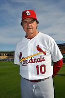 Mar 01, 2010; Jupiter, FL, USA; St. Louis Cardinals manager Tony LaRussa (10) during  photoday at Roger Dean Stadium. Mandatory Credit: Tomasso De Rosa/ Four Seam Images