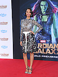 Zoe Saldana<br />  attends The Marvel Studios World Premiere GUARDIANS OF THE GALAXY held at The Dolby Theatre in Hollywood, California on July 21,2014                                                                               &copy; 2014Hollywood Press Agency
