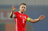 Chris Gunter of Wales thanks home supporters during the international friendly soccer match between Wales and Panama at Cardiff City Stadium, Cardiff, Wales, UK. Tuesday 14 November 2017.