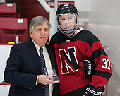 Joe Bertagna, Kasidy Anderson (NU - 37) -  The Boston College Eagles defeated the Northeastern University Huskies 2-1 in overtime to win the 2017 Hockey East championship on Sunday, March 5, 2017, at Walter Brown Arena in Boston, Massachusetts.