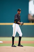 Bradenton Marauders starting pitcher Oddy Nunez (47) delivers a pitch during a game against the Charlotte Stone Crabs on June 3, 2018 at LECOM Park in Bradenton, Florida.  Charlotte defeated Bradenton 10-1.  (Mike Janes/Four Seam Images)
