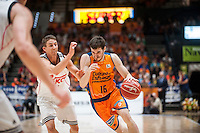 VALENCIA, SPAIN - June 11: Jaycee Carroll and Guillem Vives during SEMI FINAL ENDESA LEAGUE match between Valencia Basket Club and Real Madrid Basket at Fonteta Stadium on June 11, 2015 in Valencia, Spain