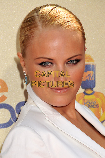 MALIN AKERMAN.18th Annual MTV Movie Awards - Arrivals held at the Universal Gibson Amphitheater, Universal City, CA, USA..May 31st, 2009.headshot portrait ackerman white .CAP/ADM/BP.©Byron Purvis/AdMedia/Capital Pictures.