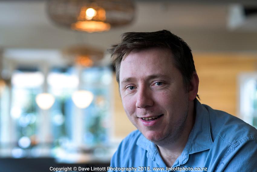 "John-Paul ""JP"" Henderson at the Salty Pidgin restaurant in Wellington New Zealand on Thursday, 25 October 2018. Photo: Dave Lintott / lintottphoto.co.nz"