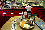 Prime Rib Steak & Egg Breakfast, Marlene & Glen's Diner, Plymouth, Amador County, California