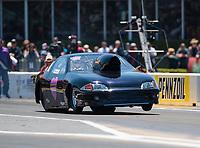 Apr 14, 2019; Baytown, TX, USA; NHRA mountain motor pro stock driver Dillon Voss during the Springnationals at Houston Raceway Park. Mandatory Credit: Mark J. Rebilas-USA TODAY Sports
