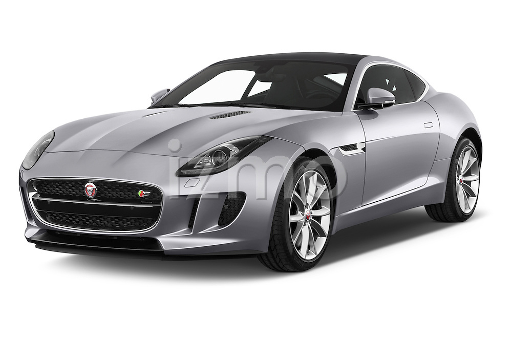 2015 Jaguar F-Type S 3 Door Coupe 2WD Angular Front stock photos of front three quarter view