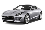2017 Jaguar F-Type S 3 Door Coupe 2WD Angular Front stock photos of front three quarter view