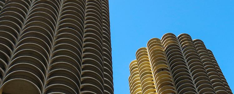 Chicago's beautiful Marina City, seen from the Chicago Architecture Foundation River Cruise April 16, 2016. (Photo by Jamie Moncrief)