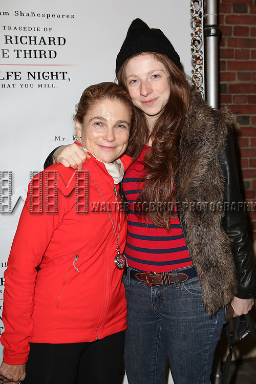 Tovah Feldshuh and daughter Amanda Levy attend the Broadway Opening Night Performance of 'Twelfth Night' at the Belasco Theatre on November 10, 2013 in New York City.
