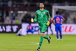 Goalkeeper Sayed Shubbar Alawi of Bahrain reacts during the AFC Asian Cup UAE 2019 Group A match between India (IND) and Bahrain (BHR) at Sharjah Stadium on 14 January 2019 in Sharjah, United Arab Emirates. Photo by Marcio Rodrigo Machado / Power Sport Images