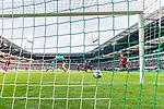 02.11.2019, wohninvest WESERSTADION, Bremen, GER, 1.FBL, Werder Bremen vs SC Freiburg<br /> <br /> DFL REGULATIONS PROHIBIT ANY USE OF PHOTOGRAPHS AS IMAGE SEQUENCES AND/OR QUASI-VIDEO.<br /> <br /> im Bild / picture shows<br /> Tor 1:0, <br /> Milot Rashica (Werder Bremen #07) mit Torschuss und Treffer zum 1:0 gegen Mark Flekken (SC Freiburg #26), <br /> aufgeommen mit remote / Hintertorkamera, <br /> <br /> Foto © nordphoto / Ewert