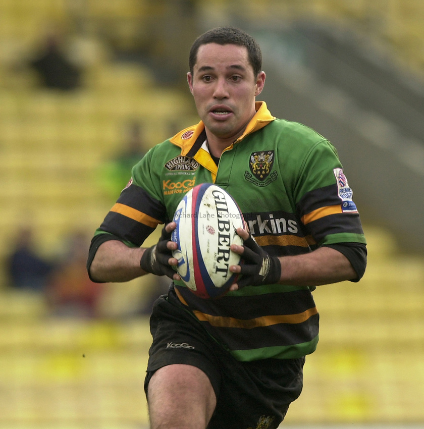 Photo. © Peter Spurrier/Richard Lane Photography.15/02/2004  -  Zurich Premiership, Saracens v Northampton Saints.Shane Drahm
