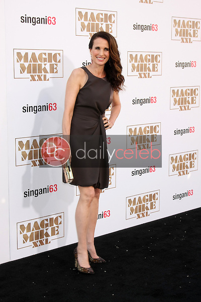 "Andie MacDowell <br /> at the ""Magic Mike XXL"" Premiere, TCL Chinese Theater, Hollywood, CA 06-25-15<br /> David Edwards/DailyCeleb.com 818-249-4998"