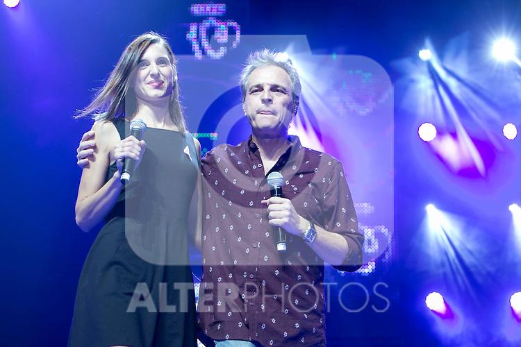 "Cochita and Hombres G attends the ""POR ELLAS"" Concert of Cadena 100 at Barclaycard Center in Madrid, Spain. November 7, 2014. (ALTERPHOTOS/Carlos Dafonte)"