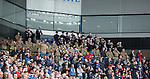 Members of HM armed forces in the Ibrox Suite corner
