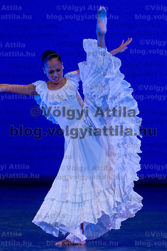 Matthew Rushing and Linda C Sims perform their dance during the World Stars Ballet Gala held in the Budapest Opera House in Budapest, Hungary, Saturday, 25. September 2010. ATTILA VOLGYI
