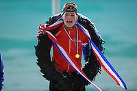 SCHAATSEN: UTRECHT: De Vechtsebanen, 26-12-2012, KPN NK Marathon, Topdivisie Dames, Nederlands kampioen Rixt Meijer (#97), ©foto Martin de Jong