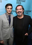 """Gideon Glick and Duncan Sheik attend the Broadway Opening Night performance after party for """"Significant Other"""" at the Redeye Grill on March 2, 2017 in New York City."""