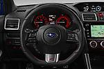 Car pictures of steering wheel view of a 2017 Subaru WRX STI Sport Premium 4 Door Sedan