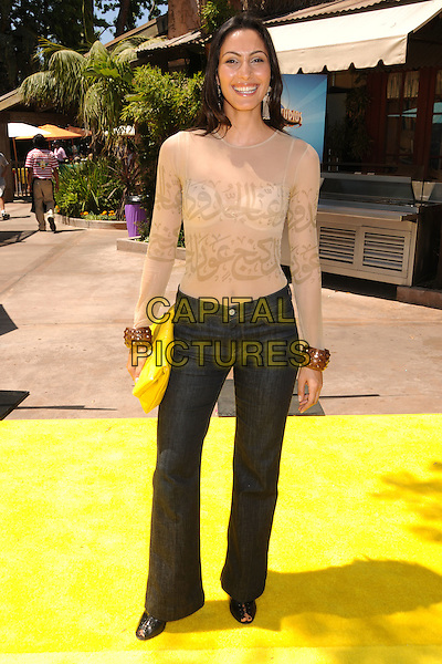"RAYA MEDDINE .""The Simpsons Ride"" Opening at Universal Studios Hollywood, Universal City, California, USA..May 17th, 2008.full length jeans denim cream sheer see through thru top bra .CAP/ADM/BP.©Byron Purvis/AdMedia/Capital Pictures."