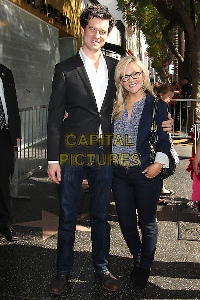 HOLLYWOOD, CA - January 29: Rachael Harris, Christian Hebel  at the Cheryl Hines Star on the Hollywood Walk of Fame, Hollywood,  January 29, 2014<br /> CAP/ADM/FS<br /> &copy;Faye Sadou/AdMedia/Capital Pictures