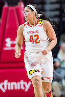 College Park, MD - DEC 29, 2016: Maryland Terrapins center Brionna Jones (42) in action during the game between No. 1 UConn and the No. 3 Terrapins at the XFINITY Center in College Park, MD. UConn defeated Maryland 87-81. (Photo by Phil Peters/Media Images International)