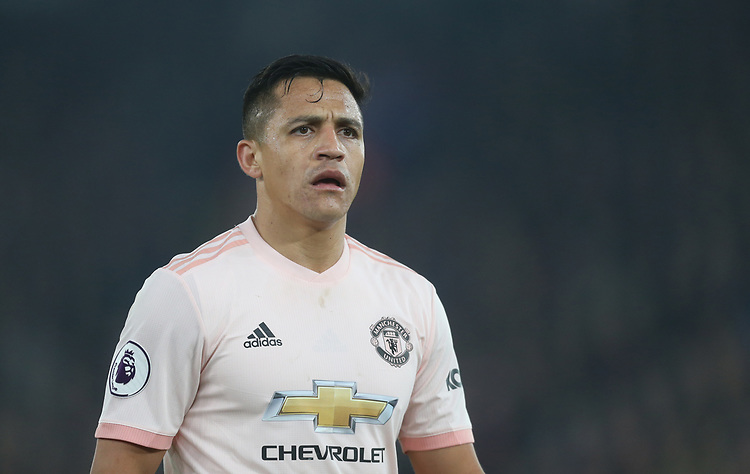 Manchester United's Alexis Sanchez<br /> <br /> Photographer Rob Newell/CameraSport<br /> <br /> The Premier League - Wednesday 27th February 2019  - Crystal Palace v Manchester United - Selhurst Park - London<br /> <br /> World Copyright © 2019 CameraSport. All rights reserved. 43 Linden Ave. Countesthorpe. Leicester. England. LE8 5PG - Tel: +44 (0) 116 277 4147 - admin@camerasport.com - www.camerasport.com