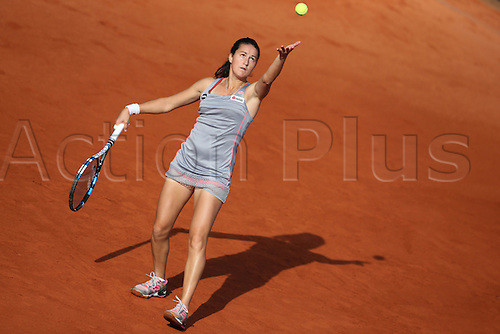 21.05.2015. Nuremberg, Germany. WTA Nuremberg Open tournament.  Lara Arruabarrena of Spain in action during the quarter finals match against Witthoeft of Germany in Nuremberg, Germany, 21 May 2015.