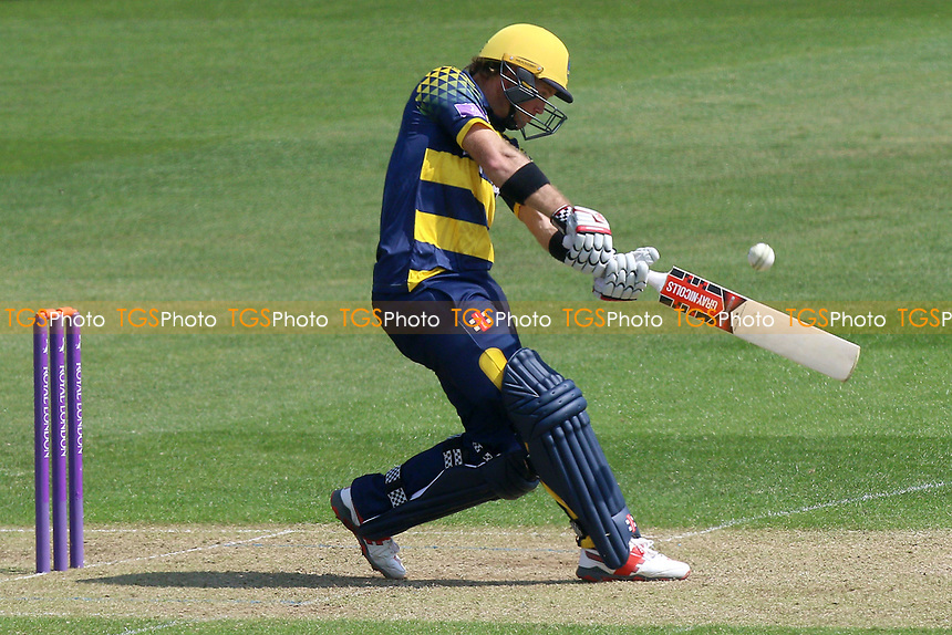 Colin Ingram hits six runs for Glamorgan during Glamorgan vs Essex Eagles, Royal London One-Day Cup Cricket at the SSE SWALEC Stadium on 7th May 2017