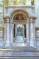 New York City: Monument to William Cullen Bryant, Bryant Park. Photo '91.