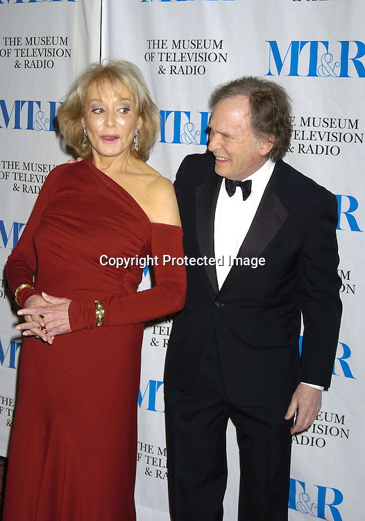 Barbara Walters and Dick Cavett..at The Museum of TV and Radio New York Gala  honoring  Merv Griffin on May 26, 2005 at The Waldorf Astoria Hotel...Photo by Robin Platzer, Twin Images