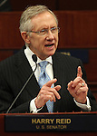 U.S. Senate Majority Leader Harry Reid speaks to a joint session of the Nevada Legislature on Tuesday, Feb. 22, 2011 at the Legislature in Carson City, Nev.  .Photo by Cathleen Allison