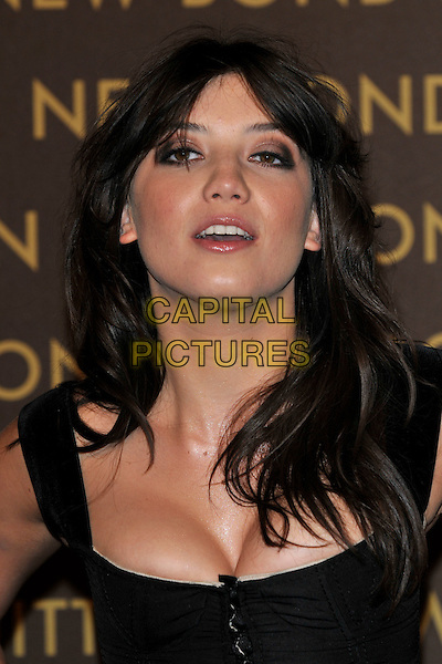 DAISY LOWE .attends the launch of the Louis Vuitton Bond Street Maison Store in London, England, UK, May 25th, 2010. .portrait headshot  black cleavage make-up  mouth open .CAP/PL.©Phil Loftus/Capital Pictures.