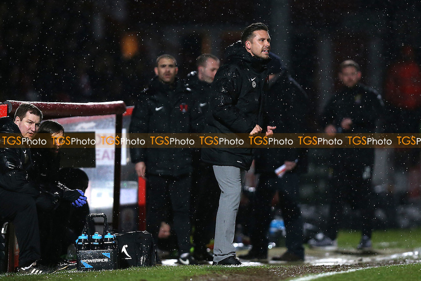 Leyton Orient manager Danny Webb on the touchline during Stevenage vs Leyton Orient, Sky Bet EFL League 2 Football at the Lamex Stadium on 28th February 2017