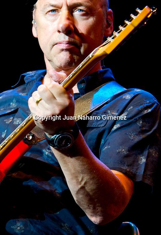 MADRID, SPAIN - JULY 29: Mark Knopfler performs in concert at Plaza de Toros de Las Ventas on July 29, 2010 in Madrid, Spain. (Photo by Juan Naharro Gimenez)