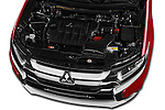 Car Stock 2016 Mitsubishi Outlander Intense Premium 5 Door SUV Engine  high angle detail view
